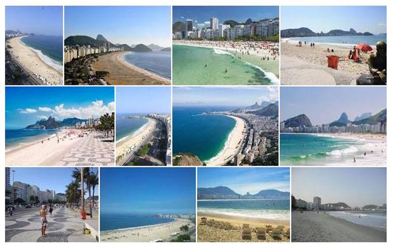 Praia de Copacabana Rio de Janeiro Fotos